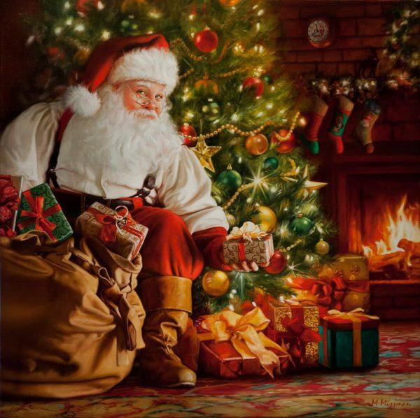Santa's Surprise 36x36